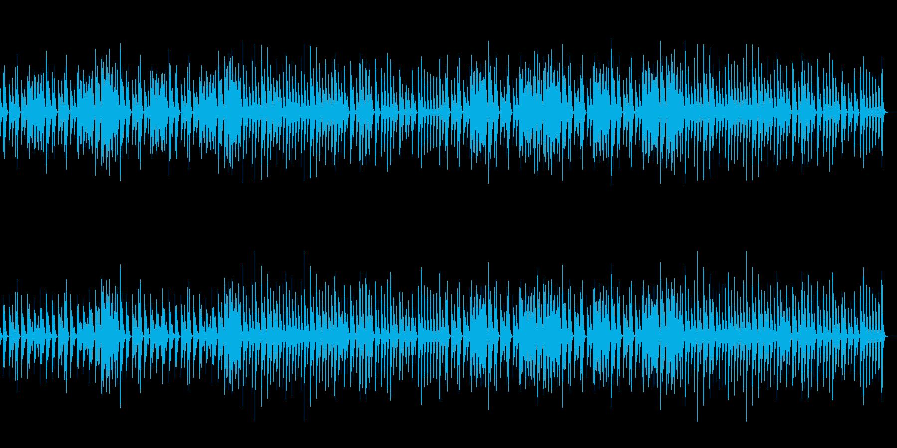 木琴と鉄琴で曇りの日のイメージ。映像(…の再生済みの波形