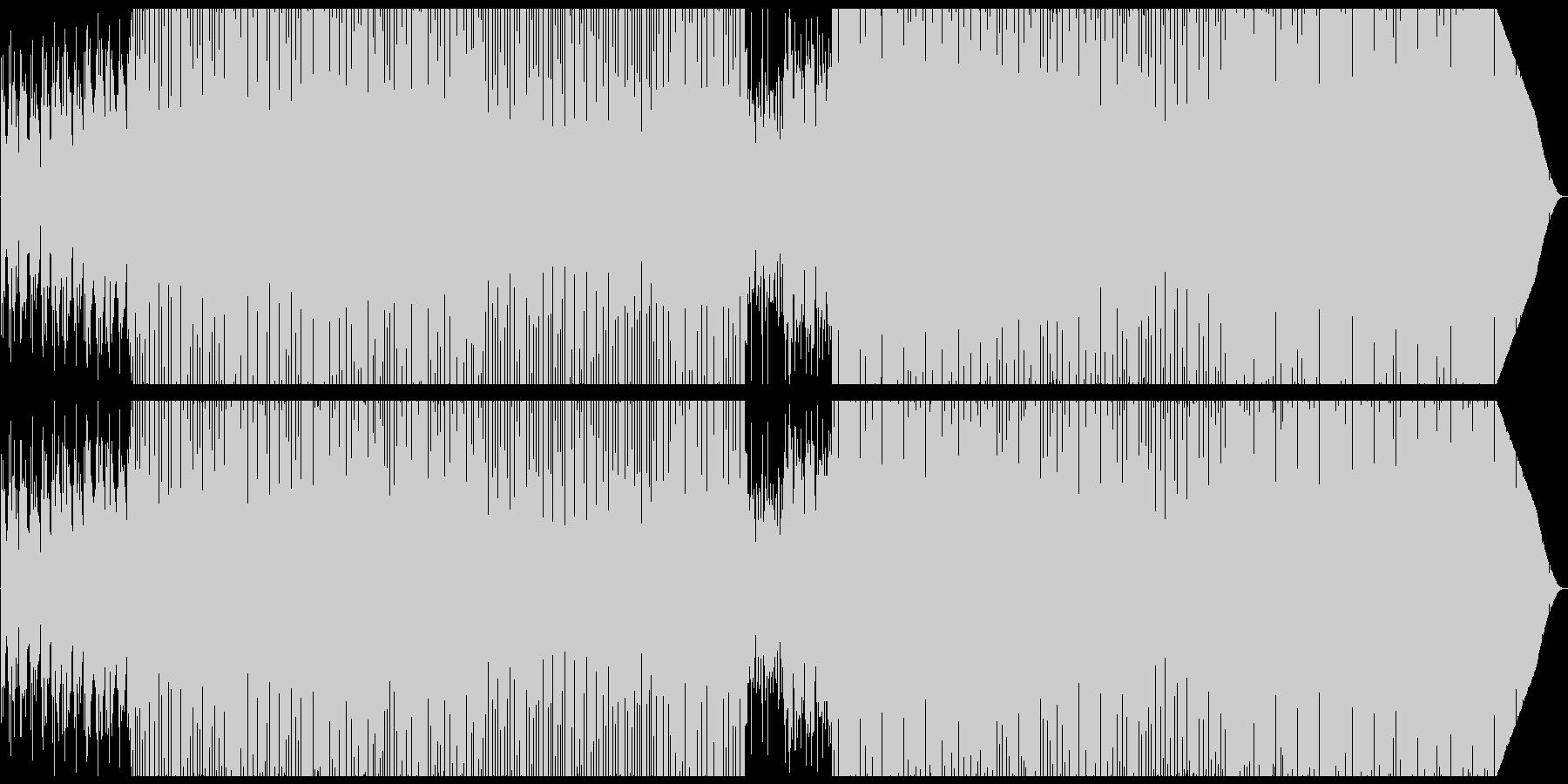 パーカッションとセンセのシンプルなハウスの未再生の波形