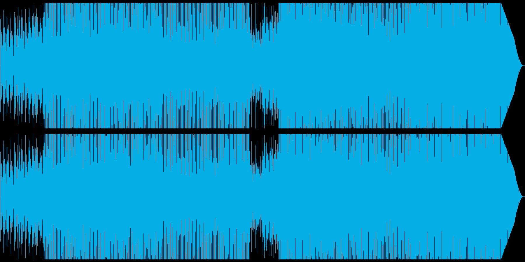 パーカッションとセンセのシンプルなハウスの再生済みの波形