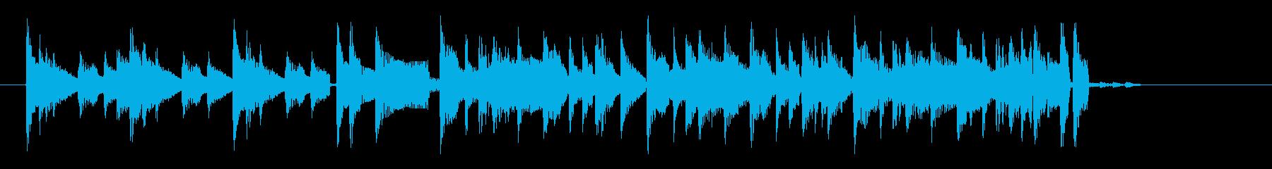 アコギによるクールなロックのジングル曲の再生済みの波形