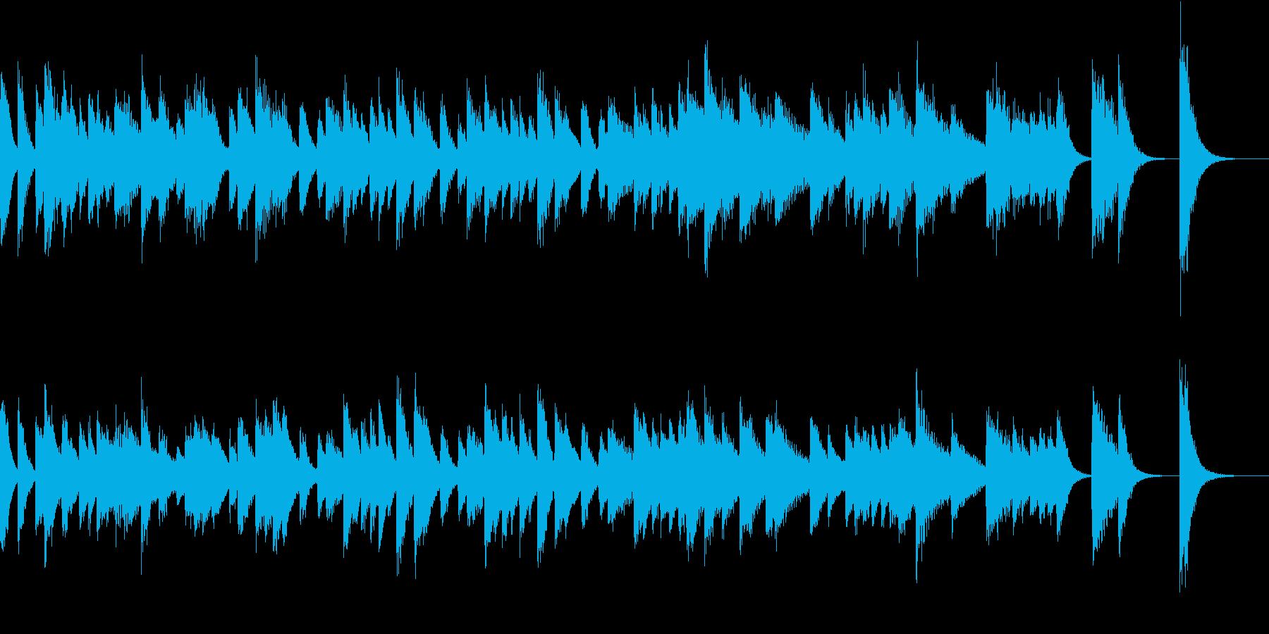 ブラジル音楽のリズミックなピアノジングルの再生済みの波形