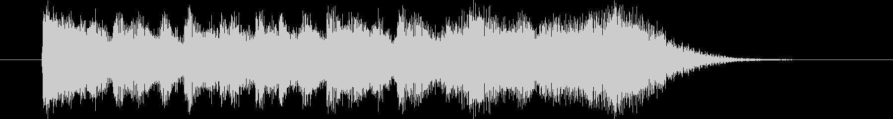 明るく元気で展開のある短い曲の未再生の波形