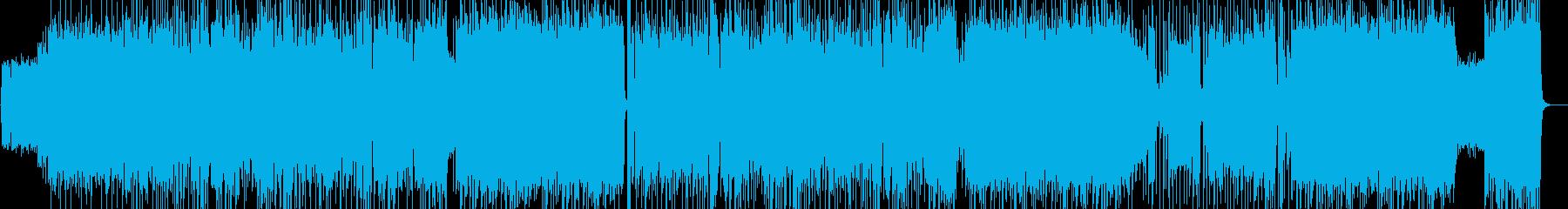 三味線デュオ 和風ハードロックの再生済みの波形