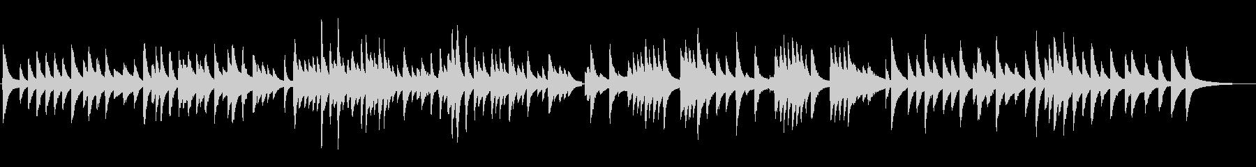 悲しくて切ないジャズラウンジピアノソロの未再生の波形