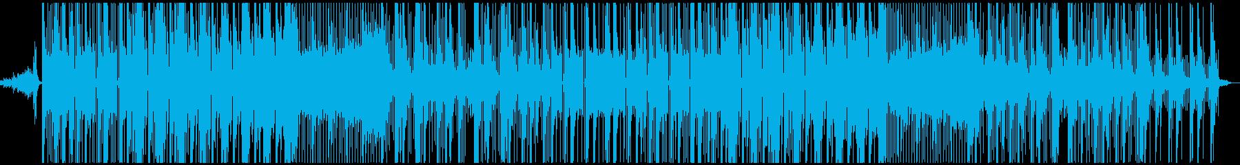 シンプルな最近のヒップホップトラックの再生済みの波形