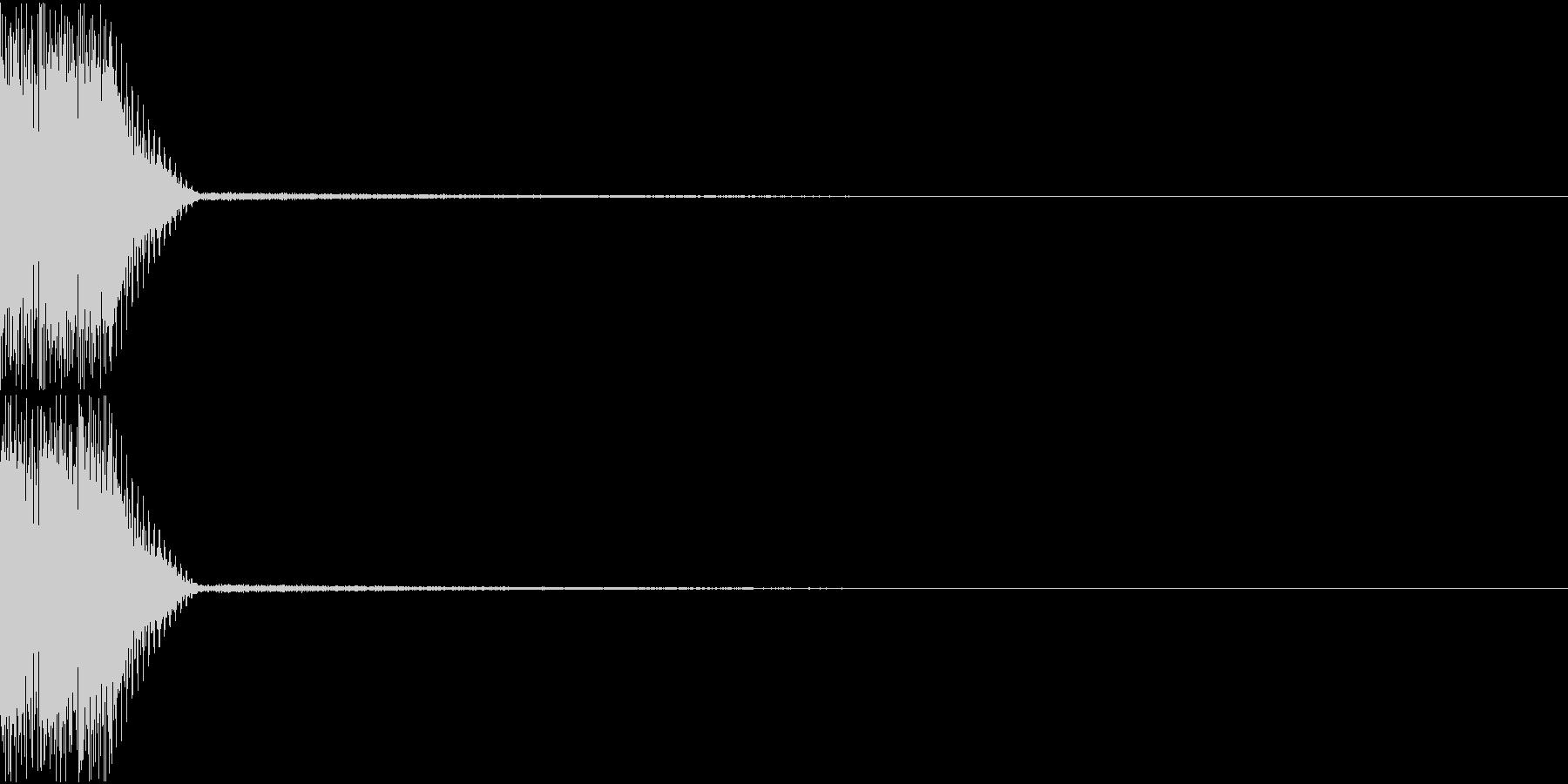 ボタン クリック コイン クレジット 8の未再生の波形