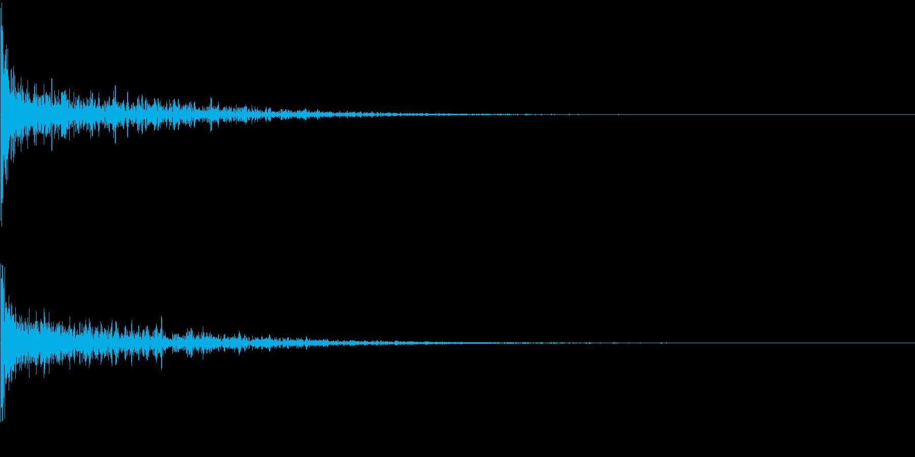 打撃系一発 タイトルロゴ、決定音の再生済みの波形