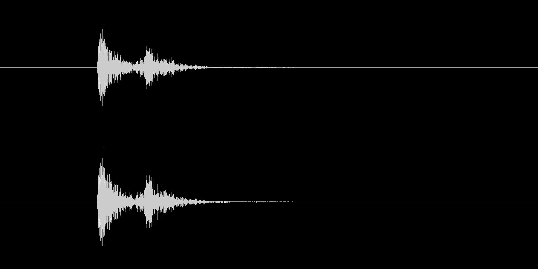 ドン バン ロッカーを叩く音の未再生の波形