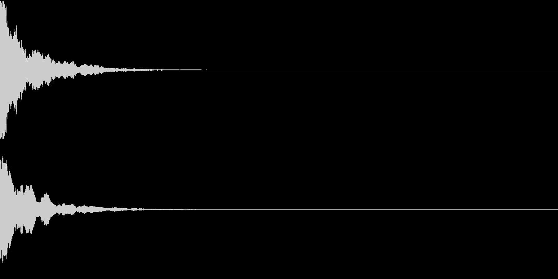 チン・和楽器・鉦(かね・しょう)の未再生の波形
