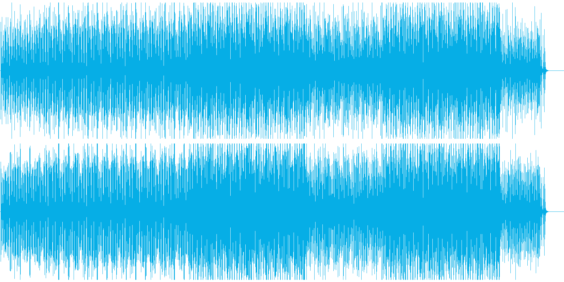 CMや映像に おしゃれボサノバサンバの再生済みの波形