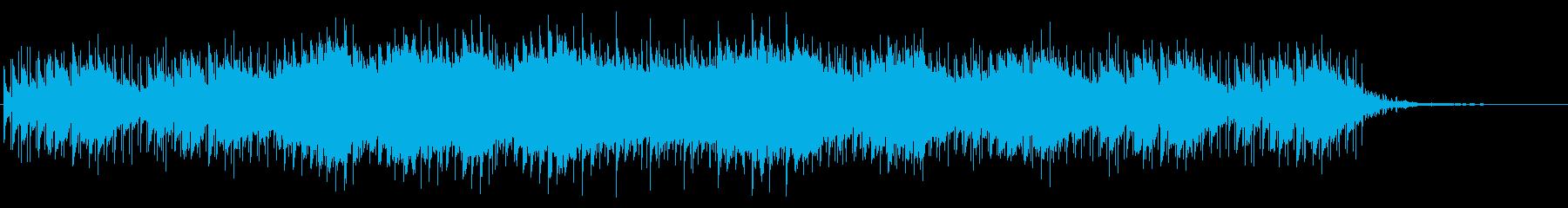 恐怖や不安感を煽るBGM 機械音とチェロの再生済みの波形