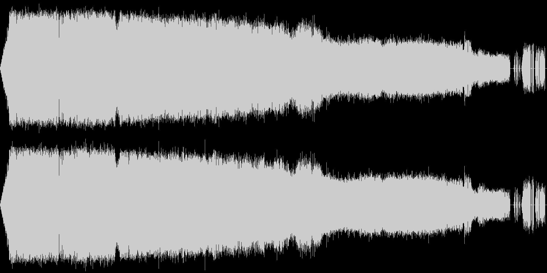 クツワムシの鳴き声【ガチャガチャ】の未再生の波形