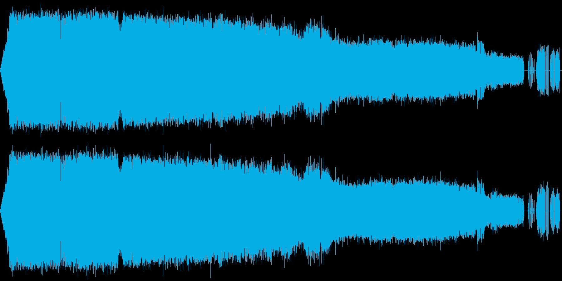 クツワムシの鳴き声【ガチャガチャ】の再生済みの波形