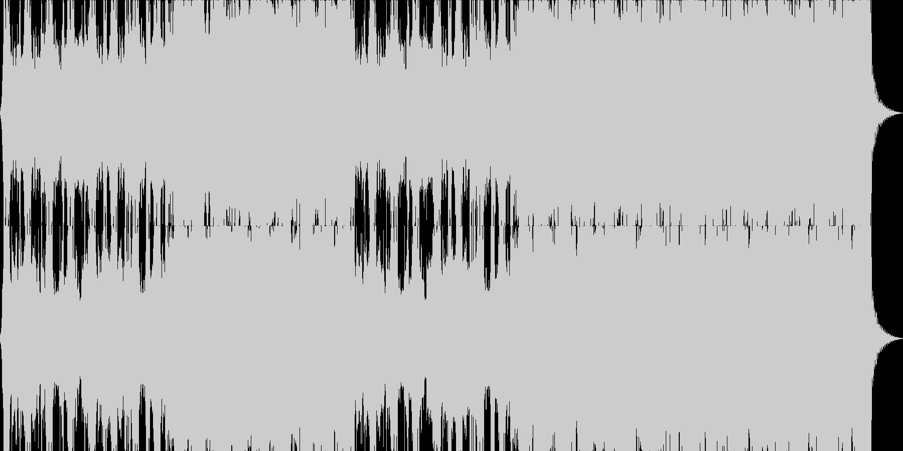 パワフルで激しいロック音楽の未再生の波形