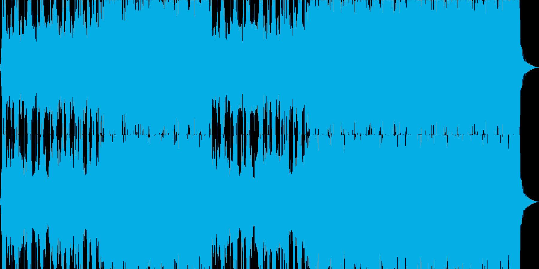 パワフルで激しいロック音楽の再生済みの波形
