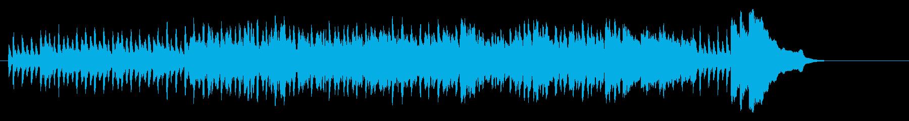 落ち葉が軽やかに舞う上品なクラシックの再生済みの波形