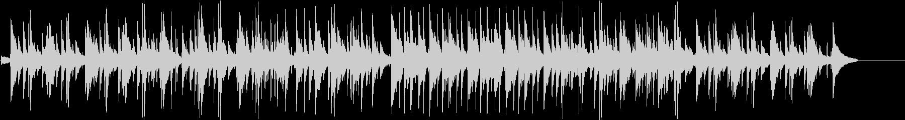 繊細で感傷的な雰囲気のピアノバラードの未再生の波形