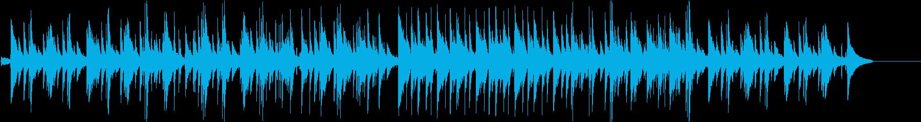 繊細で感傷的な雰囲気のピアノバラードの再生済みの波形