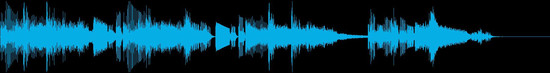シンセサイザー シンプル ジングル の再生済みの波形