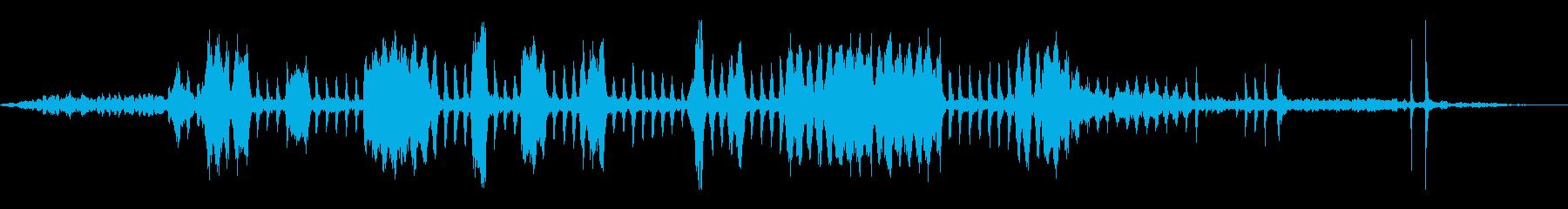 電気キーカッター:スタート、カット...の再生済みの波形