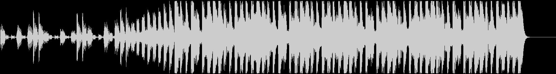 エレクトリックでモダンなポップスBGMの未再生の波形