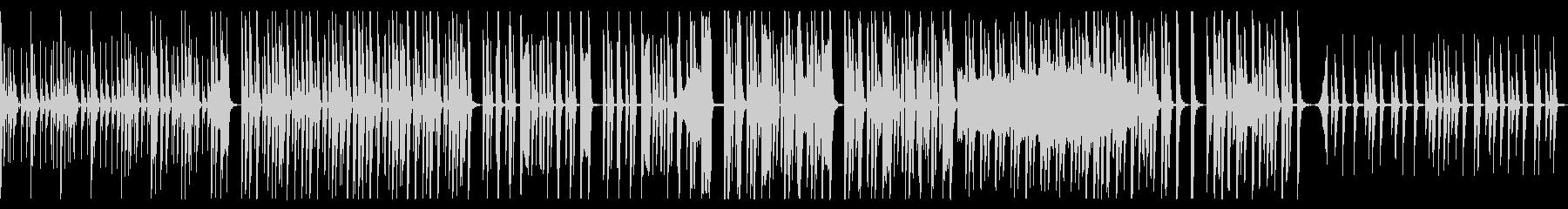 シンプルで音数の少ない変なテクノの未再生の波形
