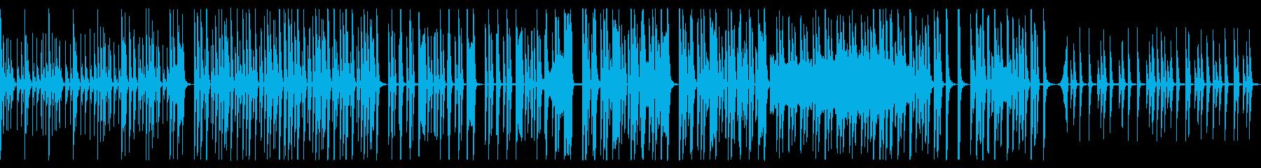 シンプルで音数の少ない変なテクノの再生済みの波形