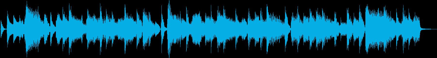 軽快な雰囲気のポップジングルの再生済みの波形