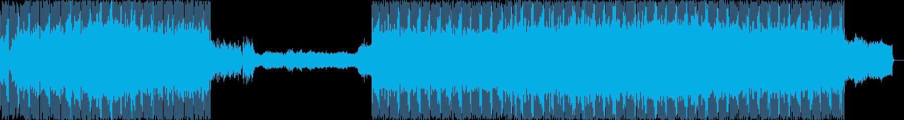 シリアスな場面の再生済みの波形