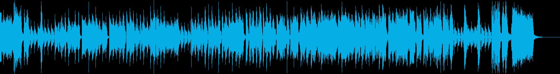 努力と根性の歌謡BGMの再生済みの波形