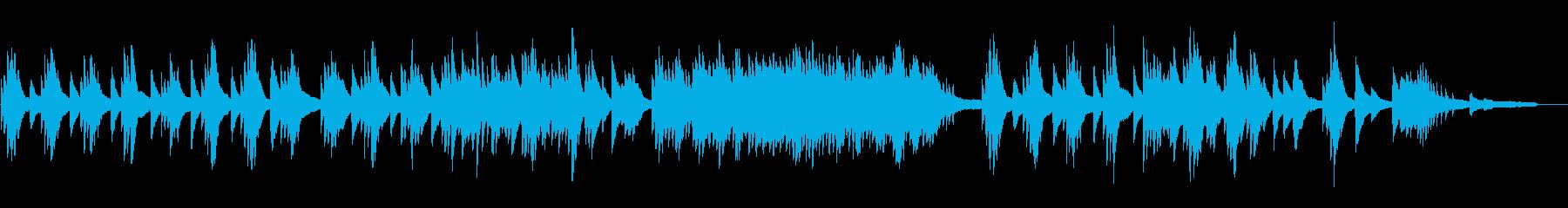 途絶えた雰囲気の温もりのあるピアノソロの再生済みの波形