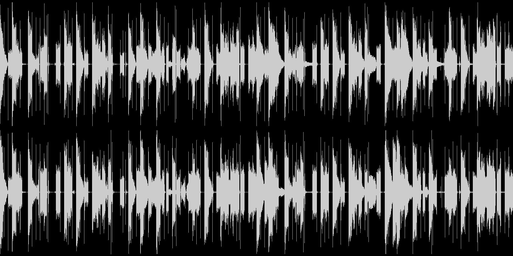 子供の声が入ったエレクトロニカループの未再生の波形