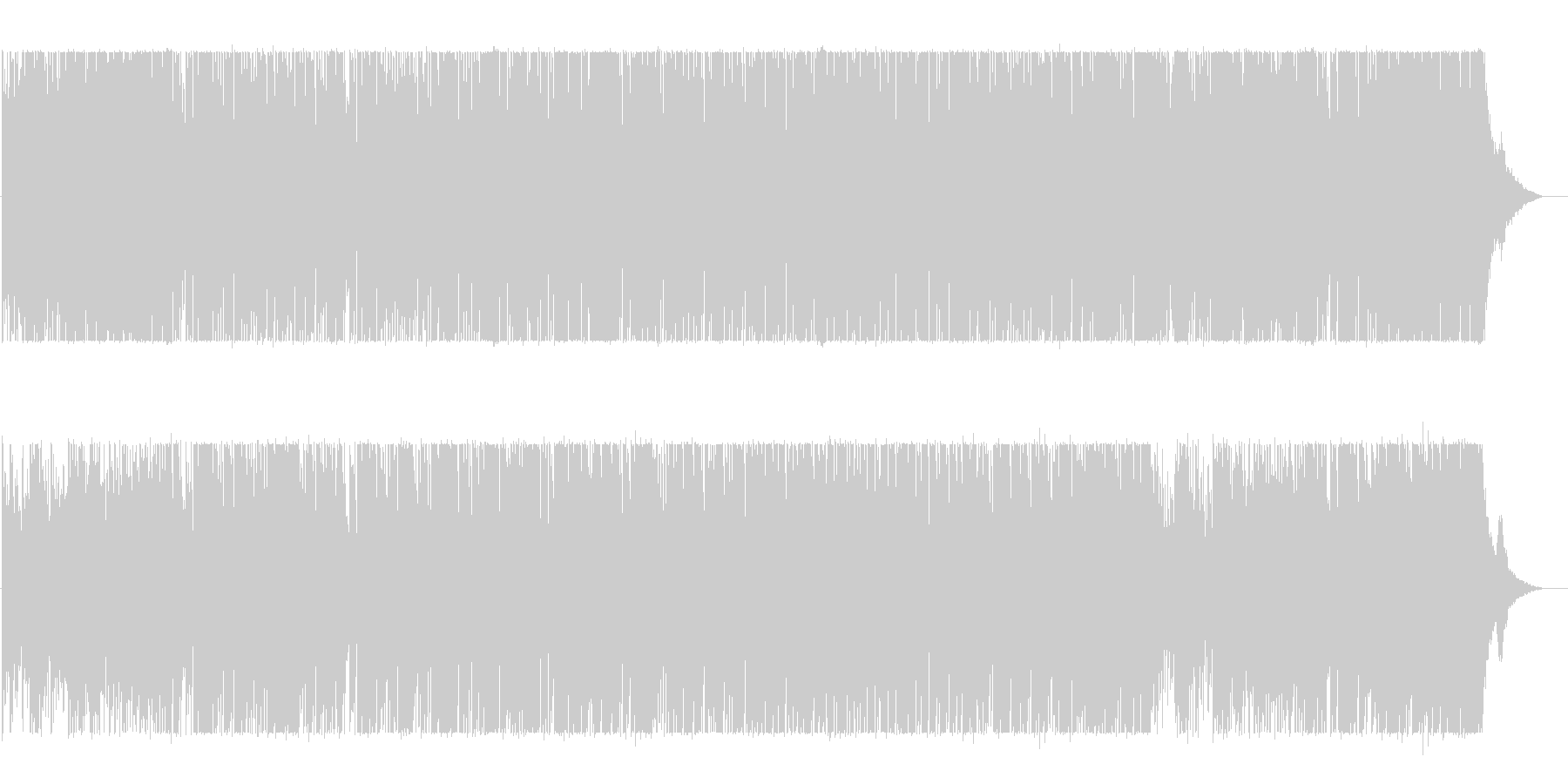 BGM with impressive light and bright piano's unreproduced waveform