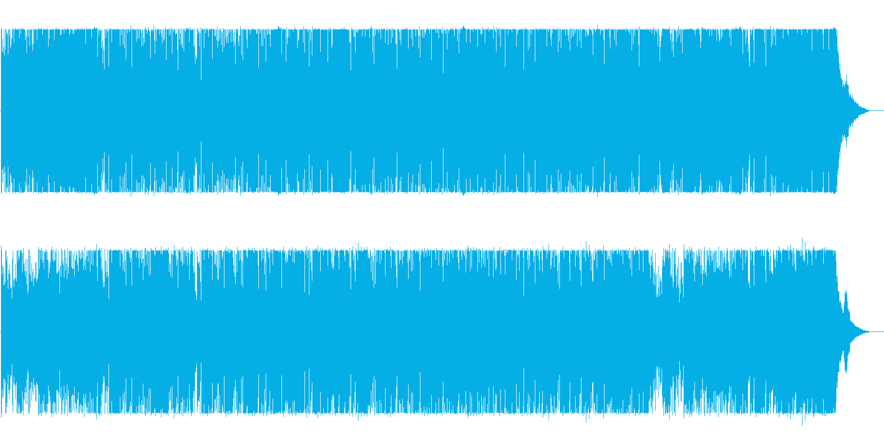 BGM with impressive light and bright piano's reproduced waveform