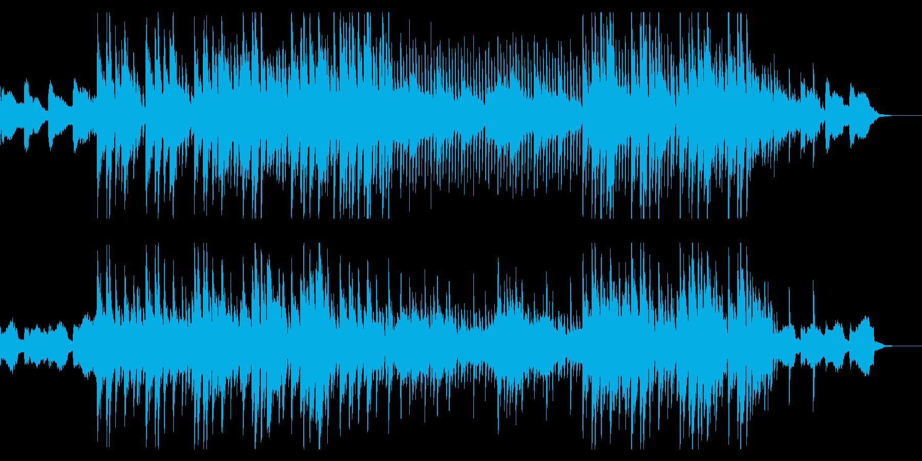 ポップなBGMの再生済みの波形