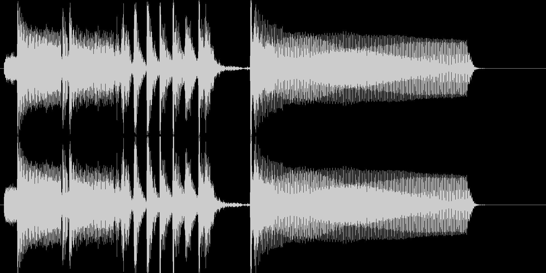 少しスリリングな場面切り替え用の未再生の波形