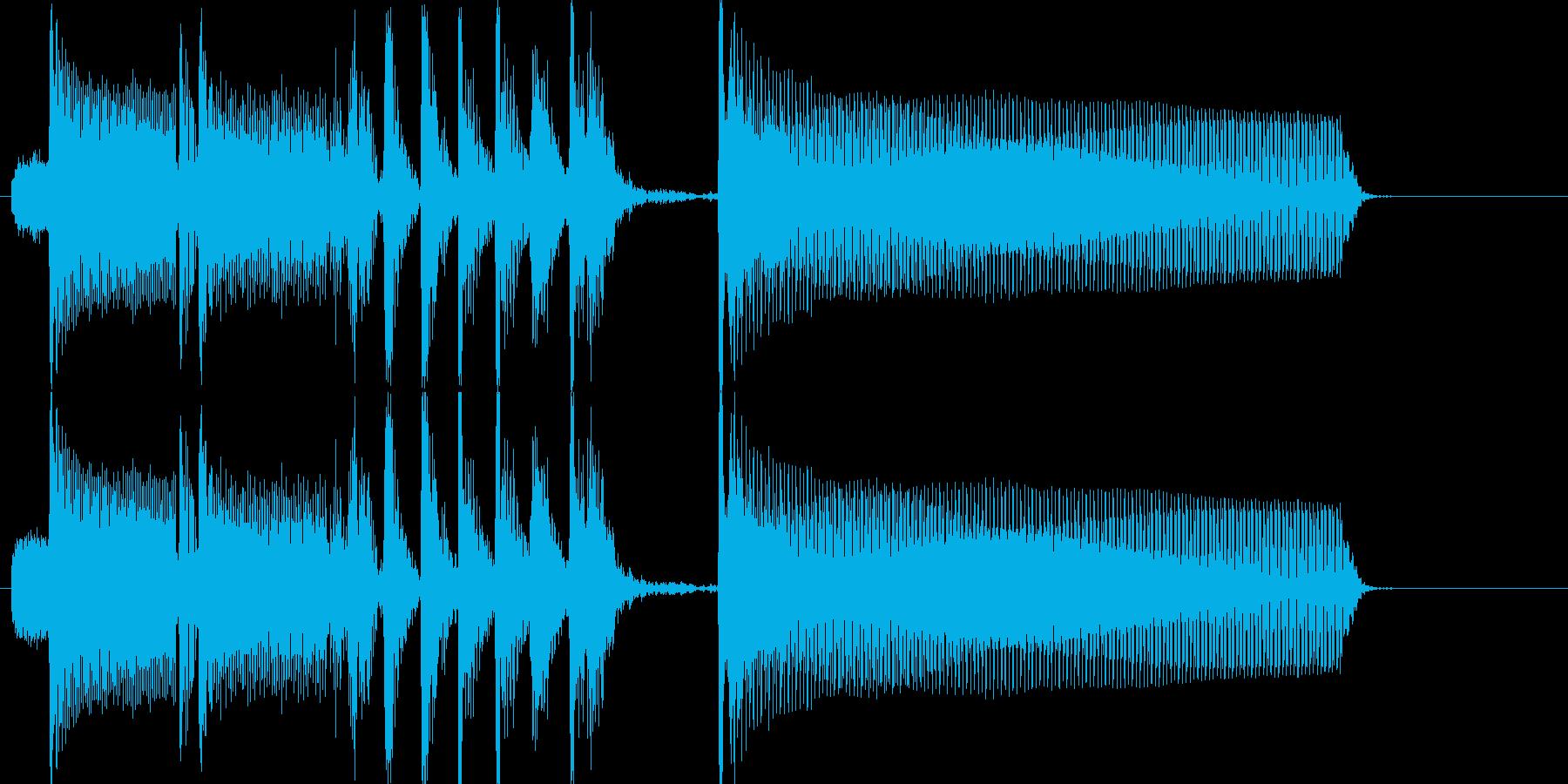 少しスリリングな場面切り替え用の再生済みの波形