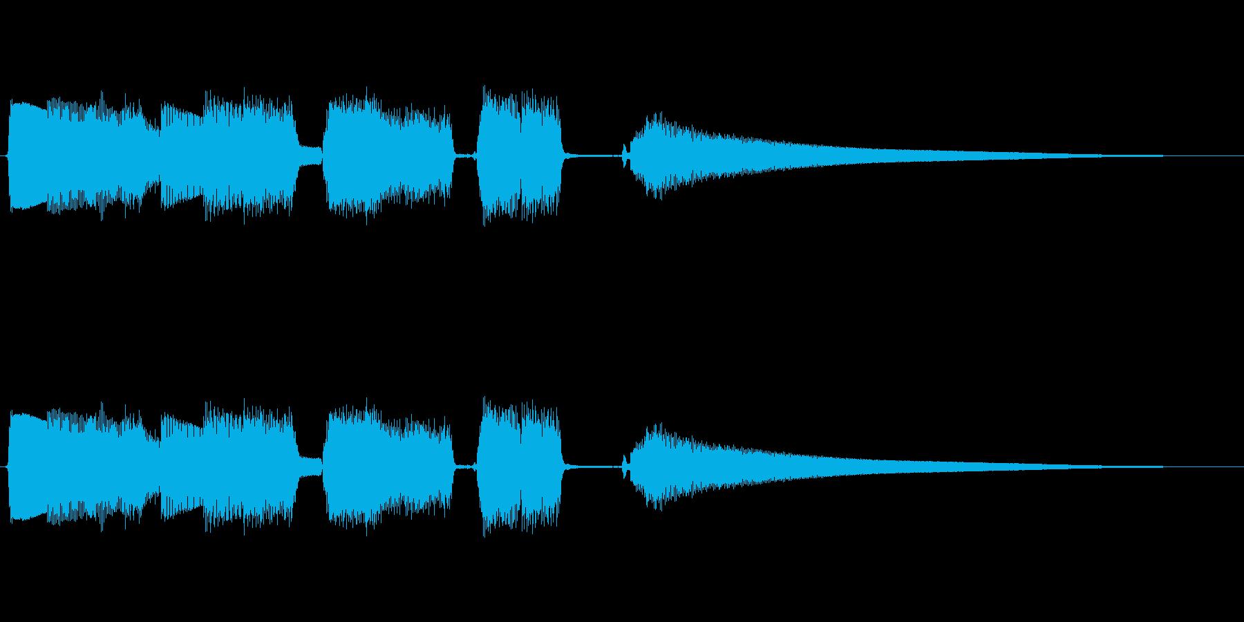 場面転換に!おしゃれなギターアルぺジオの再生済みの波形