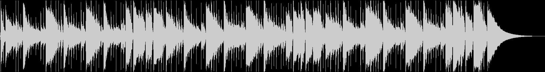 アコギの生演奏によるBGMの未再生の波形