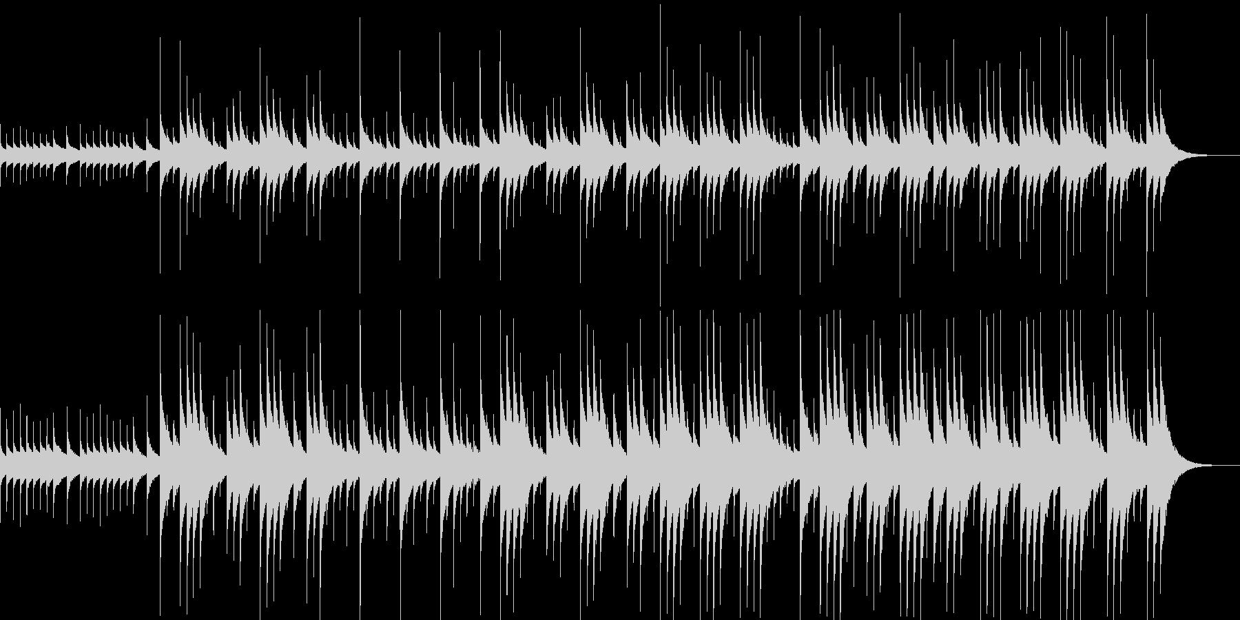 【オルゴール】森や湖のイメージ(ループ)の未再生の波形