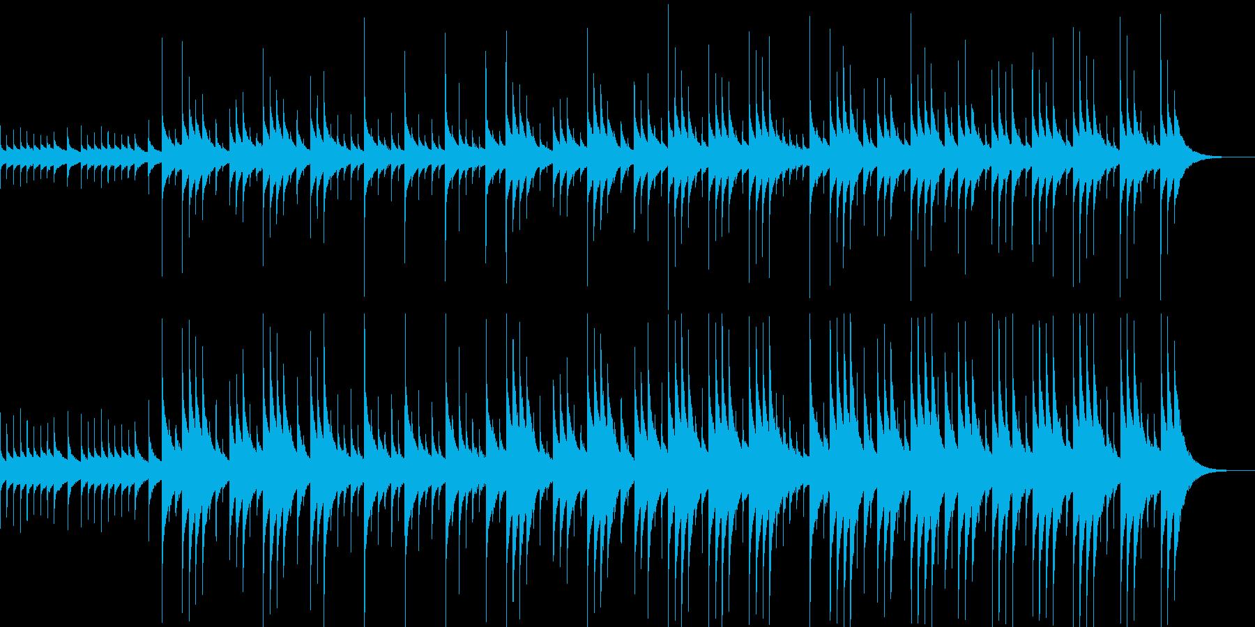 【オルゴール】森や湖のイメージ(ループ)の再生済みの波形
