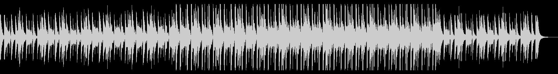 ハネ感の可愛いシンセサイザーのポップな曲の未再生の波形