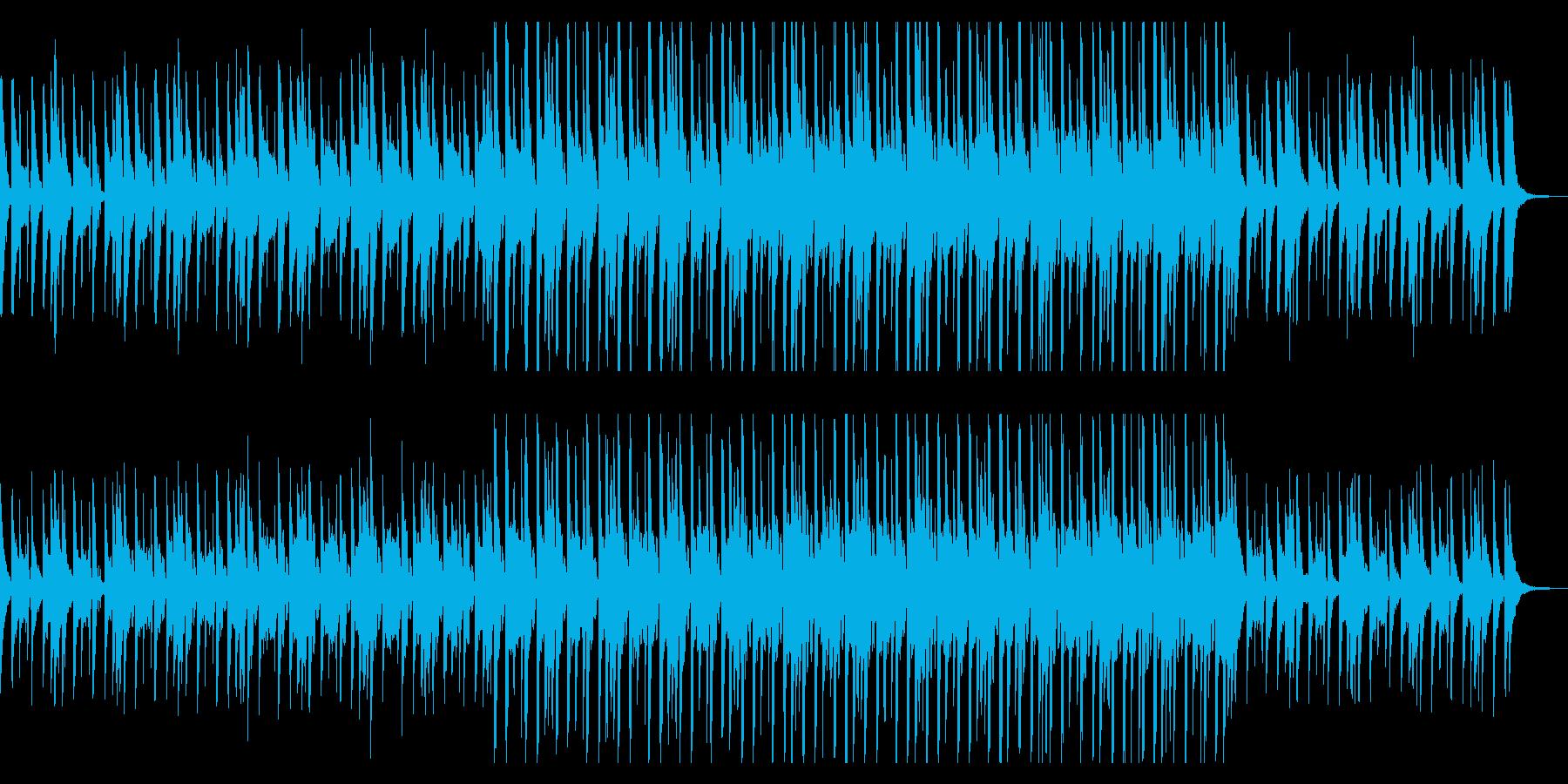 ハネ感の可愛いシンセサイザーのポップな曲の再生済みの波形