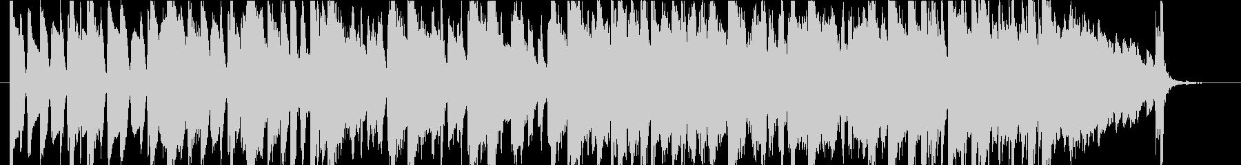 ピアノトリオの速いテンポのスイングジャズの未再生の波形