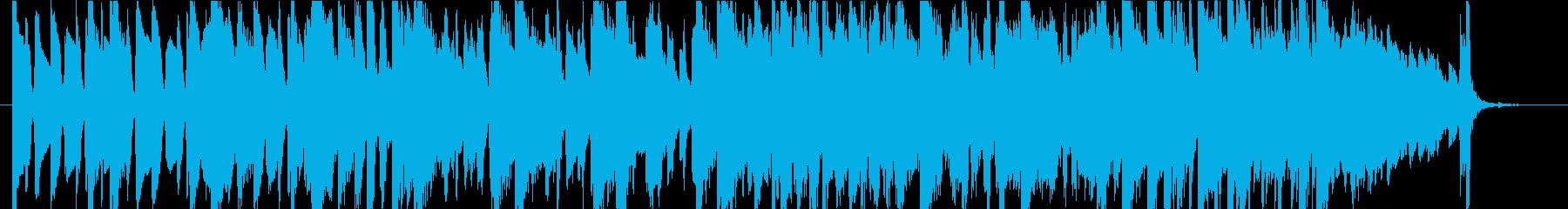ピアノトリオの速いテンポのスイングジャズの再生済みの波形