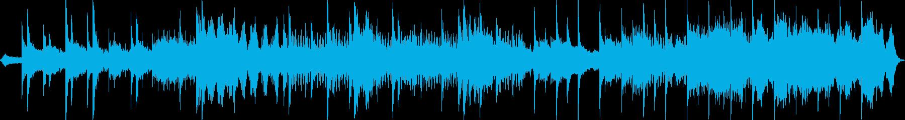 瞑想・スパに、アンビエント系BGMの再生済みの波形