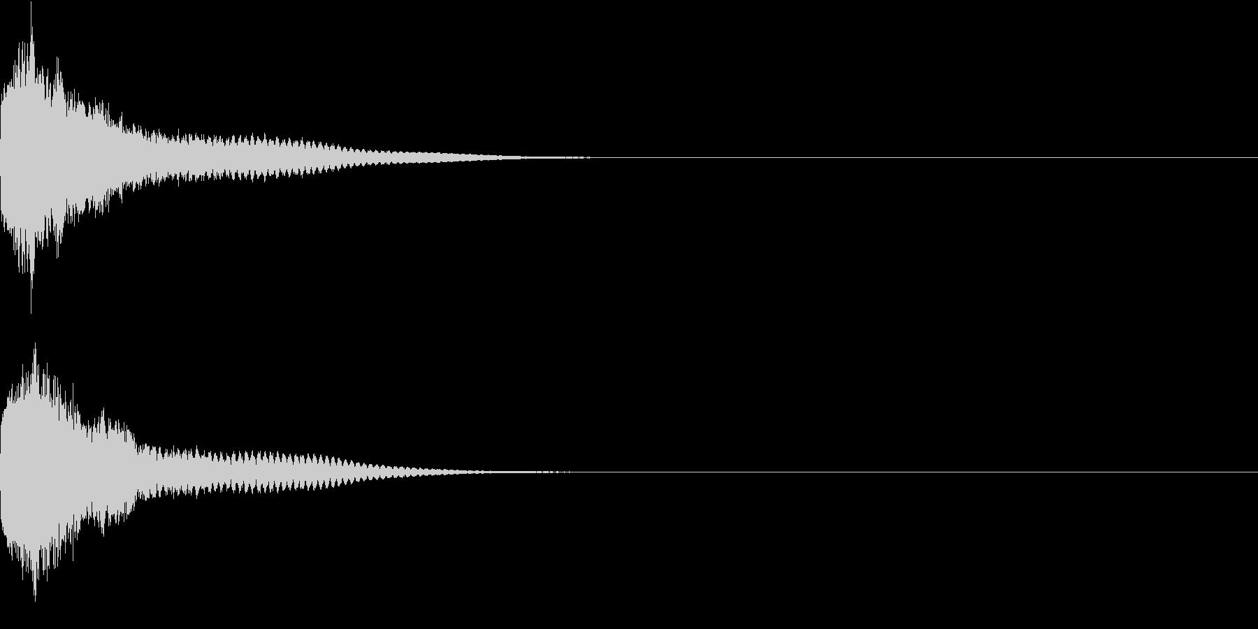 刀 一撃 キュイーン キーン 斬撃 05の未再生の波形