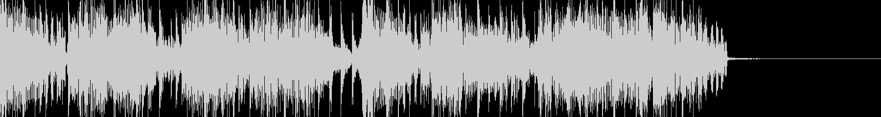 ジャズでドラムンベースなジングルの未再生の波形