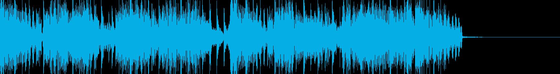 ジャズでドラムンベースなジングルの再生済みの波形