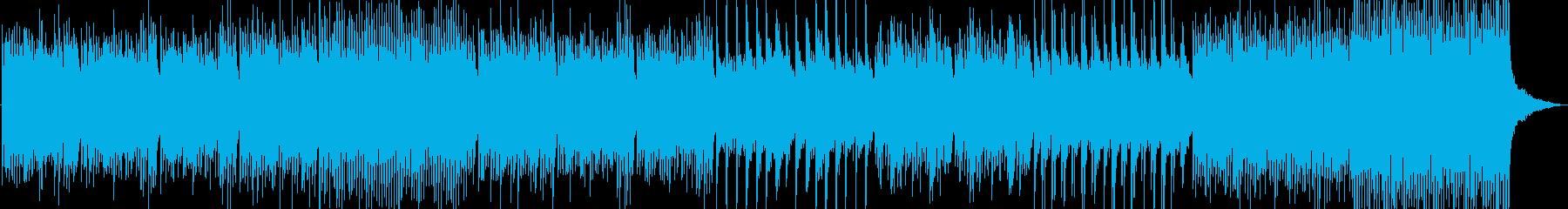 ミステリアスで逃亡するようなピアノ曲の再生済みの波形